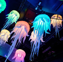 Beatiful party decoration jellyfish night lighting,hanging led inflatable jellyfish