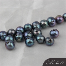 Wholesale all size black freshwater pearls large hole beads