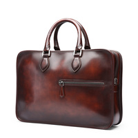 TERSE China supplier men's genuine leather briefcase handmade high quality tote bags with drop shipping
