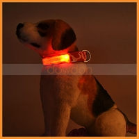 Adjustable Pet Night Safety Accessory Dog Puppy Cat Quick Release LED Lights Camouflage Collar For Dogs