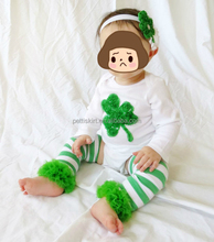 St Patrick's Day outfit shamrock baby bodysuit 3 piece suit wholesale