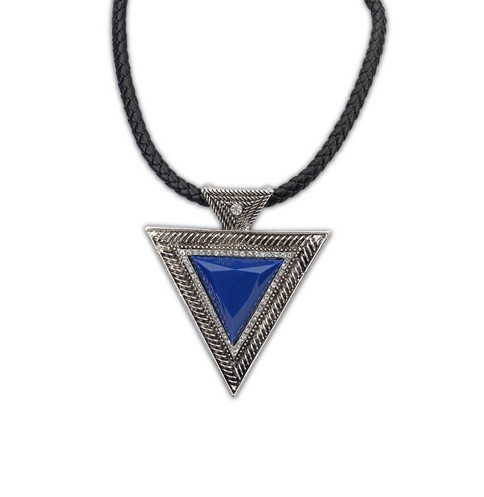 Hot Collares 2016 Bijoux Fashion Vintage Jewelry Gold Chain Triangle Statement Necklace Leather Rhinestone Necklaces & pendants