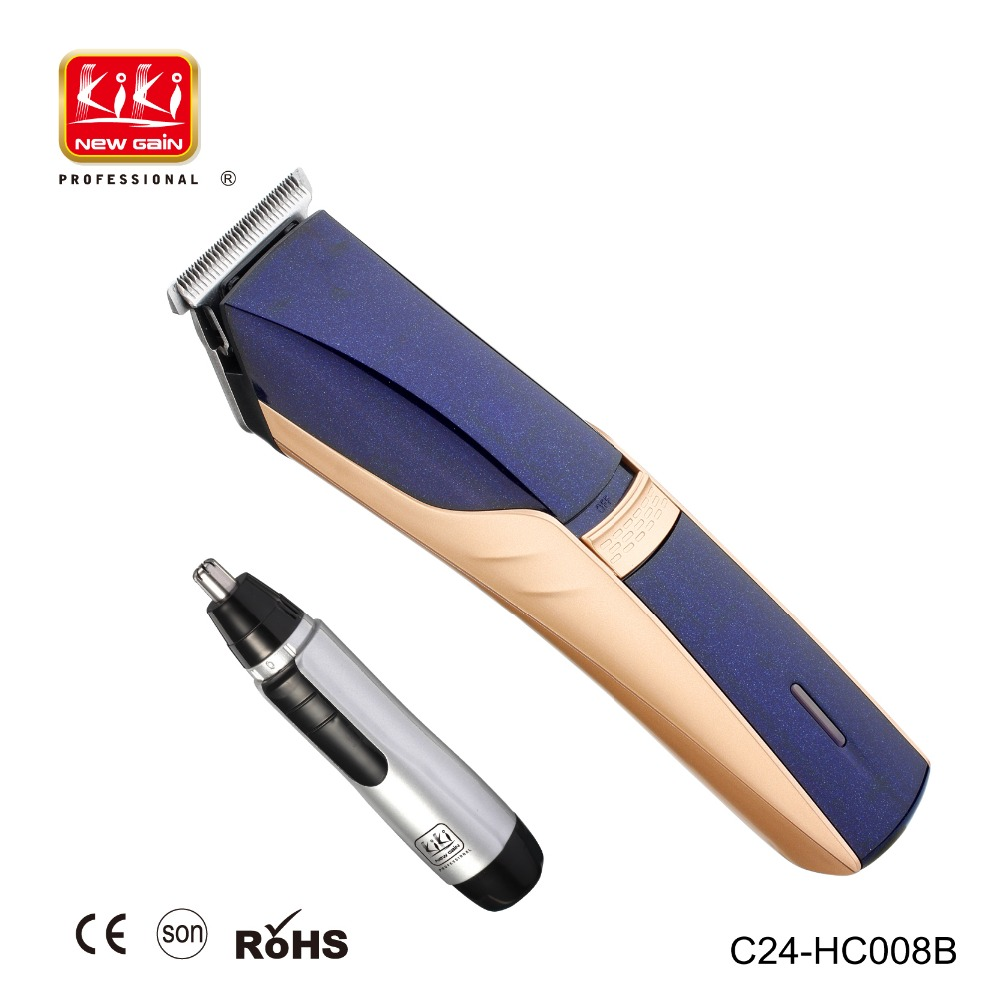 RECHARGEABLE HAIR CLIPPER AND NOSE HAIR TRIMMER SET C24-HC008B
