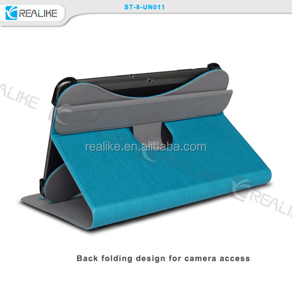 "Universal 7"" 8"" 9"" 10"" Tablet 360 Degree Rotating Case PU Leather Cover Stand + Stylus Pen"