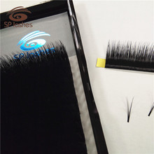 New arrived hot sale individual strips volume false eyelash extensions