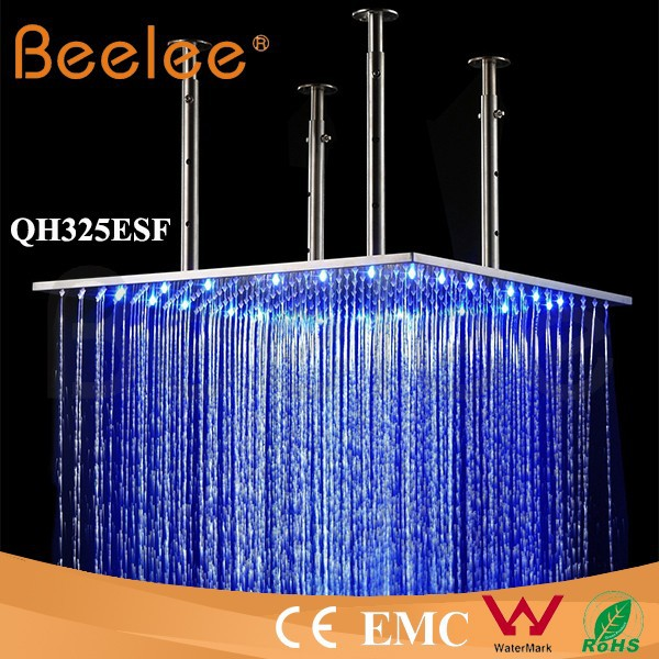 LED Ceiling mounted bathroom rain shower head