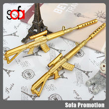 2015 latest design cool gun shape plastic ball pen for creative gift