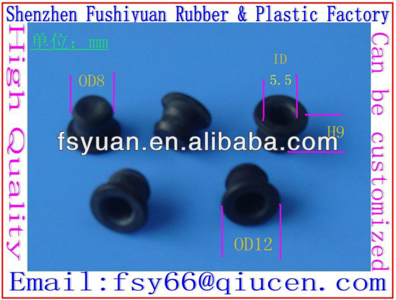 8mm 10mm 12mm hole plug rubber stopper silicone rubber waterproof dustproof hole plug