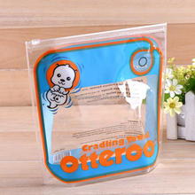 Clear reclosable pvc zipper plastic packing bag with zipper