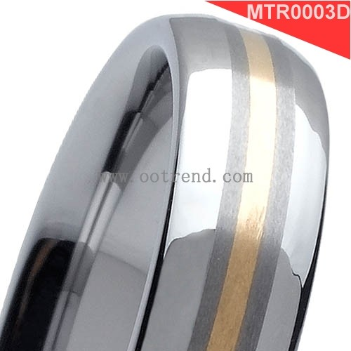 Inlay Dubai gold ring design inspired tungsten ring designs