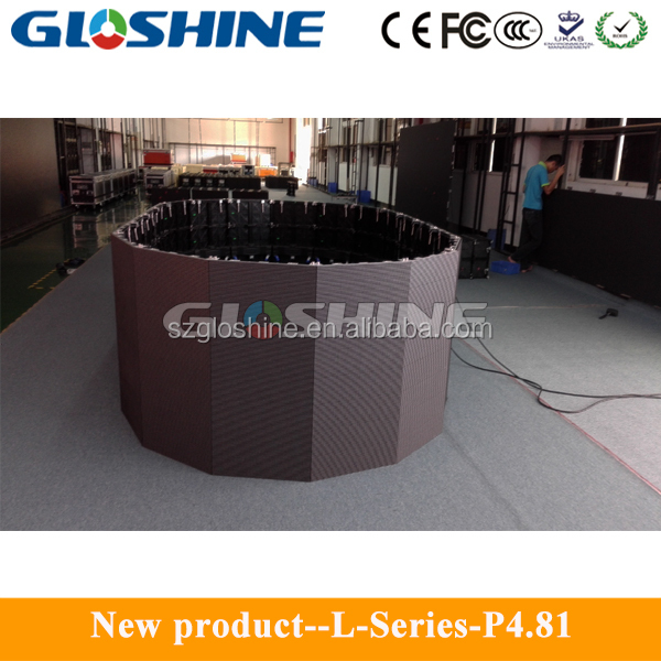 Gloshine L-P8 LED outdoor mesh screen 8.33mm LED panel