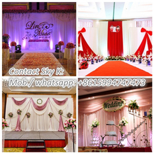 air conditional wedding tent stage backdrop chain curtain