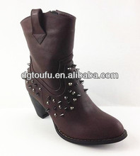 2013 hot sale winter lady bottines in near future Platform brown ankle boots bottines