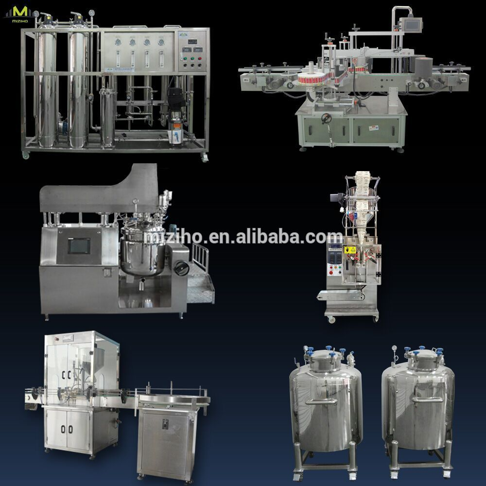 MZH Cream Vacuum Emulsifying Mixer Hot Sale,cosmetic mixer