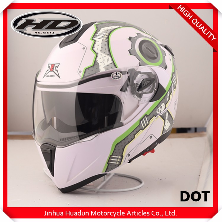 wholesale motorcycle helmet double visor flip up helmet HD-701