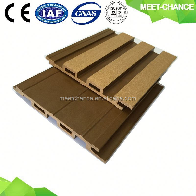 particular water proof wood grain wpc decorative wall panel for outside using