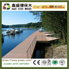 Easy install marina WPC decking floor factory price wpc flooring outside wood plastic composite decking