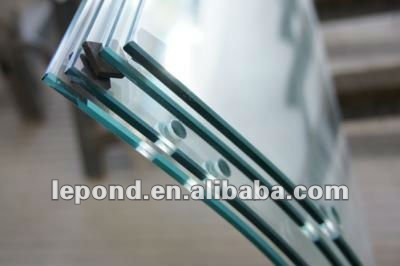 curved glass balustrade/curved glass railing