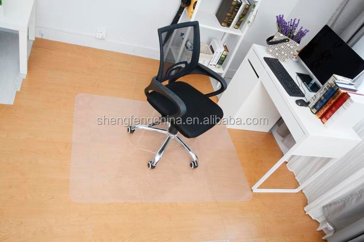 PP/PVC/PE chair mat ,custom floor mat