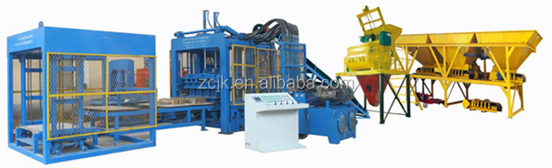 QTY10-15 Fully automatic concrete 6 inches hollow block making machine price in Mauritius