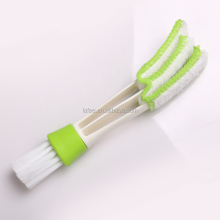 Plastic Double slider car air conditioning outlet brush,venetian window cleaning