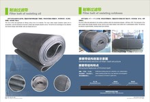 Rubber drainage belt for vacuum belt filter