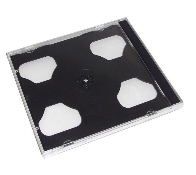 China wholesale high quality plastic double cd jewel case