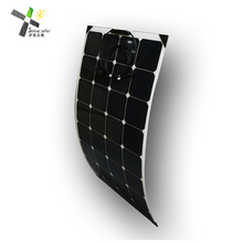 Solar Panel Whole Flexible 50W 75W 100W 120W 135W Photovoltaic ETFE Laminated Solar Panel Manufacturers in China