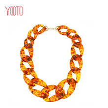 High quality multicolor plastic acrylic resin chain necklace