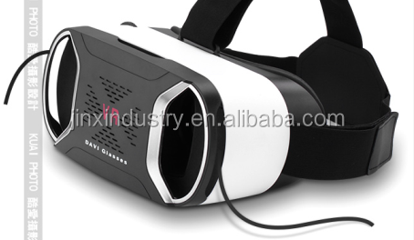 high quality 3d vr headset virtual reality 3d glasses helmet for blue film video open sex