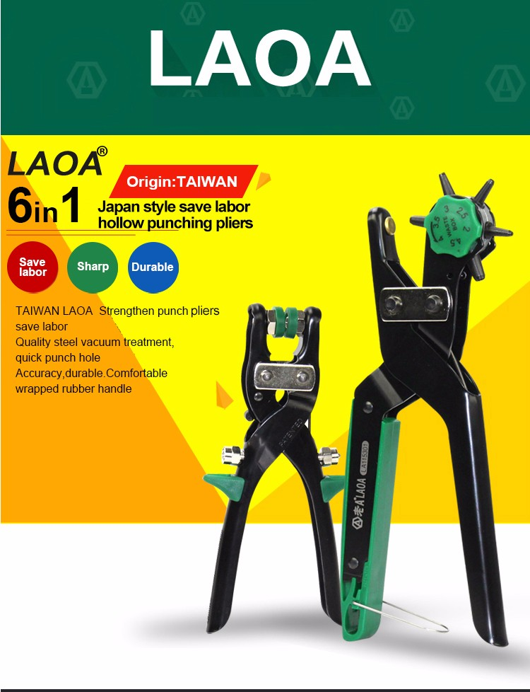 LAOA wholesale high quality revolving leather canvas belt punch punching plier