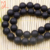 Wholesale high quality black agate frosted beads gemstone