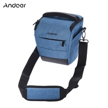 Andoer Portable DSLR Camera Shoulder Bag Sleek Polyester Camera Case D4115BL