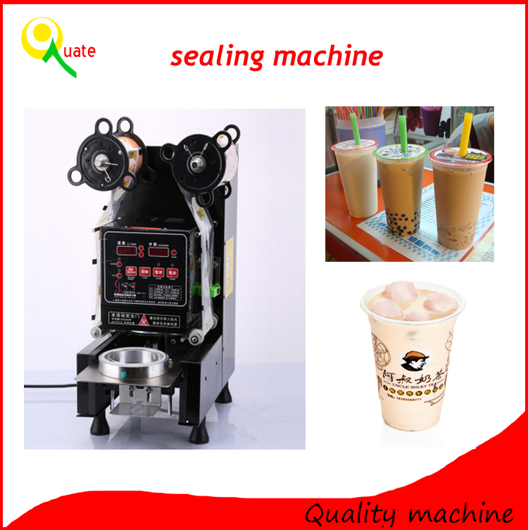 Commercial Automatic Bubble Milk Tea Cup Sealing Machine