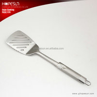 High grade cooking tools best stainless steel slotted flat pan turner