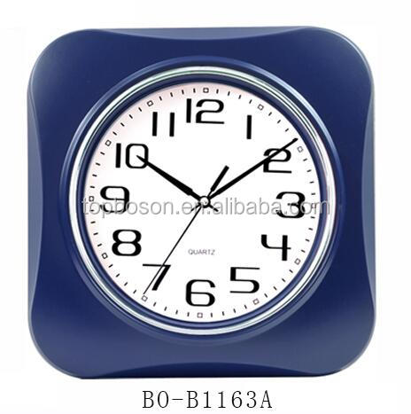 Silent Quartz Decorative Wall Clock Non ticking Digital Plastic