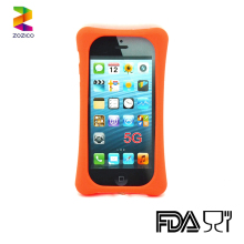 Shockproof silicone Case for Iphone 5S Backpack stand silicone Cover