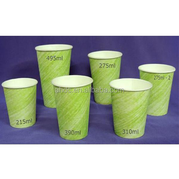 Single wall king garden kraft paper cup for drinking