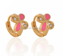 14 karat gold jewelry wholesale enamel small hoop knot earrings jewelry