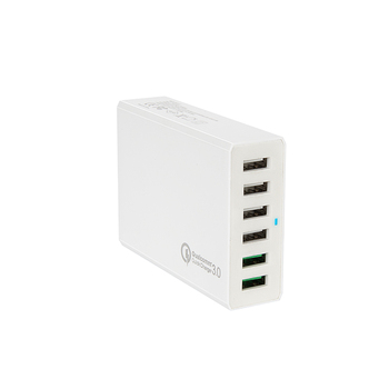 2017 Newest Product 60W Qualcomm 3.0 quick charge 6 port USB charger
