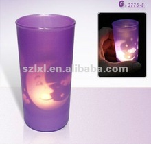 LED blowing out shadow cup candle