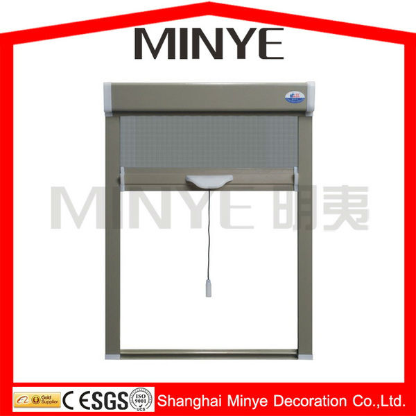 aluminum profile electric/auto rolling fly screen for window