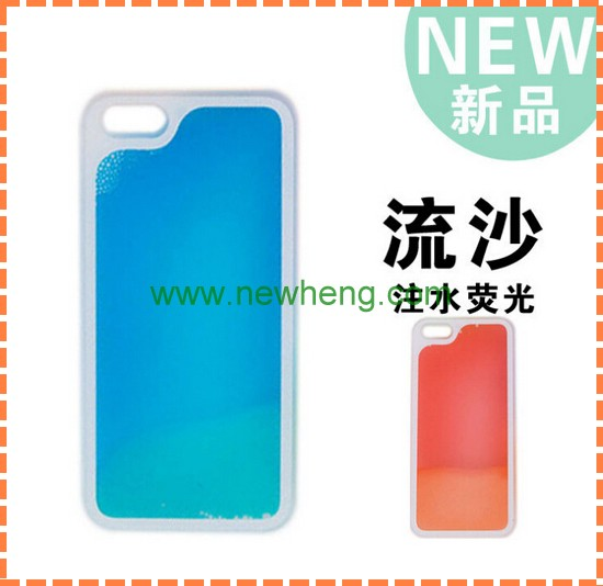 factory price fluorescent plastic case for iphone5/5s