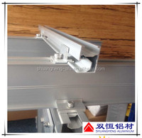 6005 clear anodized aluminum profile for solar panle mounting rail