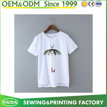 Good quality women's cotton printing t shirt faddish slim fit t shirt
