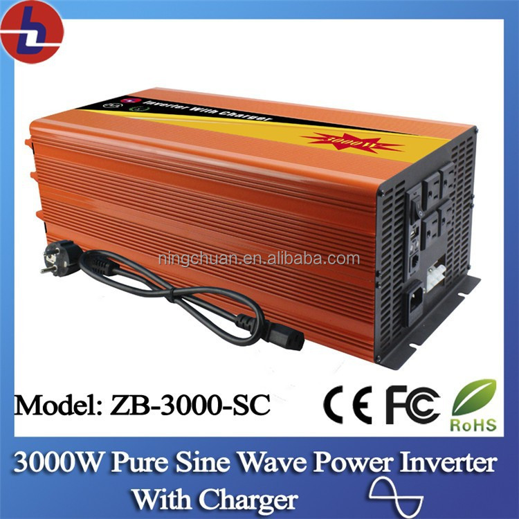 3000W Pure Sine Wave Power Inverter with Build-in Charger