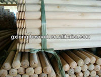 factory direct sales eucalyptus natural wooden broom stick handle