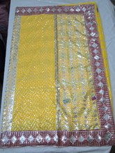 Yellow Daily wear cheap sarees for wholesale