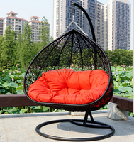 Modern Patio Outdoor Swing Chairs Rattan Hammock Chair Outdoor Double Swing EGG Chairs