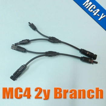 MC4 Y branch for solar panel parallel connection, MC4 Mnulti Branch Connector with cable